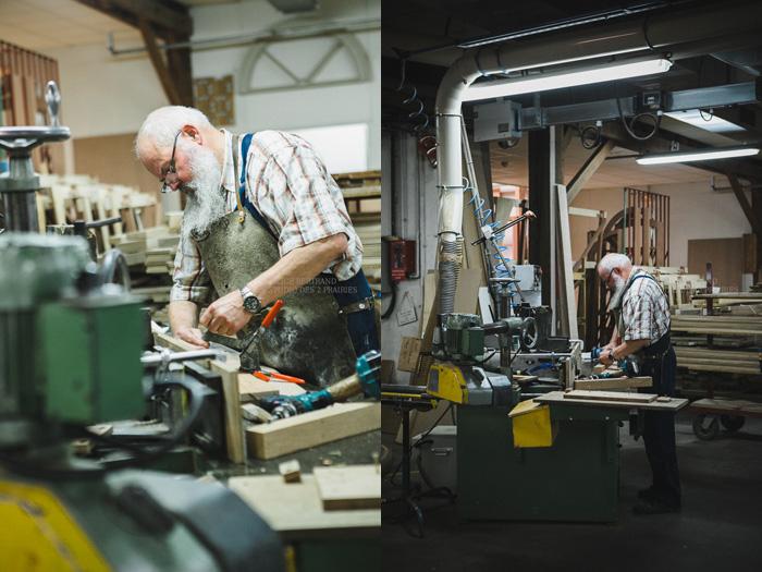 Reportage photo artisanat: atelier de menuiserie, portraits d'artisans